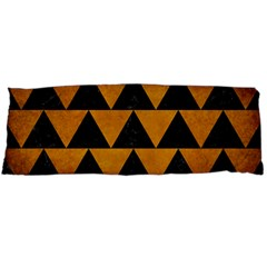 Triangle2 Black Marble & Yellow Grunge Body Pillow Case (dakimakura)