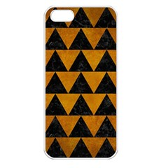 Triangle2 Black Marble & Yellow Grunge Apple Iphone 5 Seamless Case (white)