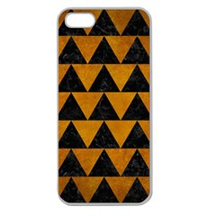 Triangle2 Black Marble & Yellow Grunge Apple Seamless Iphone 5 Case (clear)
