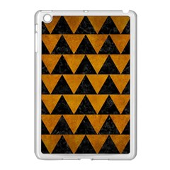 Triangle2 Black Marble & Yellow Grunge Apple Ipad Mini Case (white)