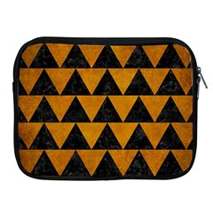 Triangle2 Black Marble & Yellow Grunge Apple Ipad 2/3/4 Zipper Cases