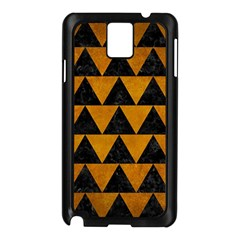 Triangle2 Black Marble & Yellow Grunge Samsung Galaxy Note 3 N9005 Case (black)