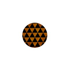 Triangle3 Black Marble & Yellow Grunge 1  Mini Buttons