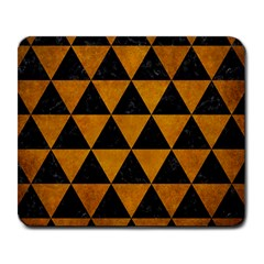 Triangle3 Black Marble & Yellow Grunge Large Mousepads