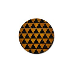 Triangle3 Black Marble & Yellow Grunge Golf Ball Marker