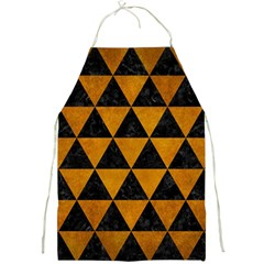 Triangle3 Black Marble & Yellow Grunge Full Print Aprons
