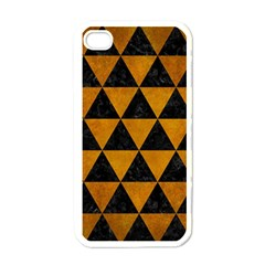 Triangle3 Black Marble & Yellow Grunge Apple Iphone 4 Case (white)
