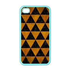 Triangle3 Black Marble & Yellow Grunge Apple Iphone 4 Case (color)