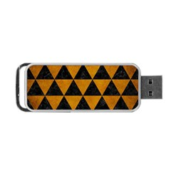 Triangle3 Black Marble & Yellow Grunge Portable Usb Flash (one Side)