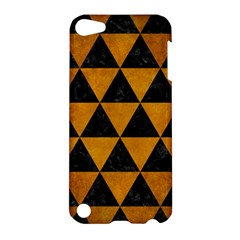 Triangle3 Black Marble & Yellow Grunge Apple Ipod Touch 5 Hardshell Case