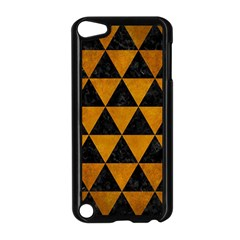 Triangle3 Black Marble & Yellow Grunge Apple Ipod Touch 5 Case (black)