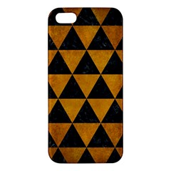 Triangle3 Black Marble & Yellow Grunge Apple Iphone 5 Premium Hardshell Case