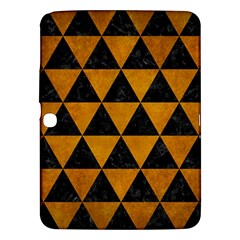 Triangle3 Black Marble & Yellow Grunge Samsung Galaxy Tab 3 (10 1 ) P5200 Hardshell Case