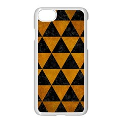 Triangle3 Black Marble & Yellow Grunge Apple Iphone 8 Seamless Case (white)