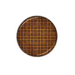 Woven1 Black Marble & Yellow Grunge Hat Clip Ball Marker (4 Pack)