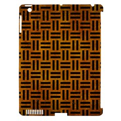Woven1 Black Marble & Yellow Grunge Apple Ipad 3/4 Hardshell Case (compatible With Smart Cover)
