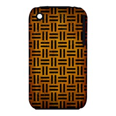 Woven1 Black Marble & Yellow Grunge Iphone 3s/3gs