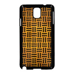 Woven1 Black Marble & Yellow Grunge Samsung Galaxy Note 3 Neo Hardshell Case (black)
