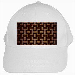 Woven1 Black Marble & Yellow Grunge (r) White Cap