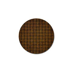 Woven1 Black Marble & Yellow Grunge (r) Golf Ball Marker (10 Pack)