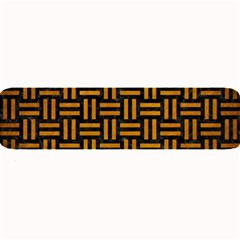 Woven1 Black Marble & Yellow Grunge (r) Large Bar Mats