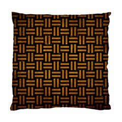 Woven1 Black Marble & Yellow Grunge (r) Standard Cushion Case (one Side)