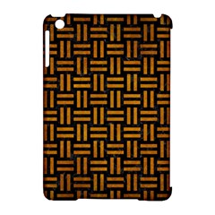 Woven1 Black Marble & Yellow Grunge (r) Apple Ipad Mini Hardshell Case (compatible With Smart Cover)