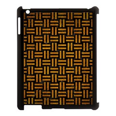 Woven1 Black Marble & Yellow Grunge (r) Apple Ipad 3/4 Case (black)