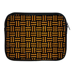 Woven1 Black Marble & Yellow Grunge (r) Apple Ipad 2/3/4 Zipper Cases