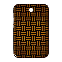 Woven1 Black Marble & Yellow Grunge (r) Samsung Galaxy Note 8 0 N5100 Hardshell Case