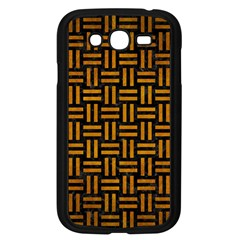 Woven1 Black Marble & Yellow Grunge (r) Samsung Galaxy Grand Duos I9082 Case (black)