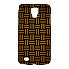 Woven1 Black Marble & Yellow Grunge (r) Galaxy S4 Active