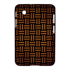 Woven1 Black Marble & Yellow Grunge (r) Samsung Galaxy Tab 2 (7 ) P3100 Hardshell Case