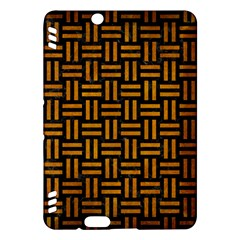 Woven1 Black Marble & Yellow Grunge (r) Kindle Fire Hdx Hardshell Case