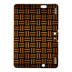 Woven1 Black Marble & Yellow Grunge (r) Kindle Fire Hdx 8 9  Hardshell Case