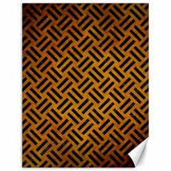 Woven2 Black Marble & Yellow Grunge Canvas 12  X 16