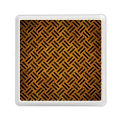 Woven2 Black Marble & Yellow Grunge Memory Card Reader (square)