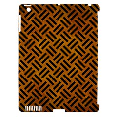 Woven2 Black Marble & Yellow Grunge Apple Ipad 3/4 Hardshell Case (compatible With Smart Cover)