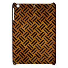 Woven2 Black Marble & Yellow Grunge Apple Ipad Mini Hardshell Case