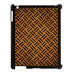 Woven2 Black Marble & Yellow Grunge Apple Ipad 3/4 Case (black)