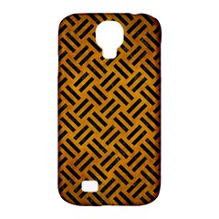 Woven2 Black Marble & Yellow Grunge Samsung Galaxy S4 Classic Hardshell Case (pc+silicone)