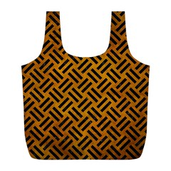 Woven2 Black Marble & Yellow Grunge Full Print Recycle Bags (l)