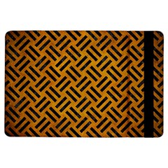 Woven2 Black Marble & Yellow Grunge Ipad Air Flip
