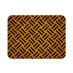 Woven2 Black Marble & Yellow Grunge Double Sided Flano Blanket (mini)