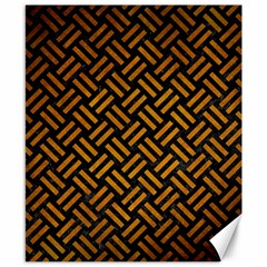 Woven2 Black Marble & Yellow Grunge (r) Canvas 8  X 10