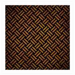 Woven2 Black Marble & Yellow Grunge (r) Medium Glasses Cloth