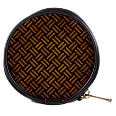Woven2 Black Marble & Yellow Grunge (r) Mini Makeup Bags