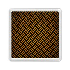 Woven2 Black Marble & Yellow Grunge (r) Memory Card Reader (square)