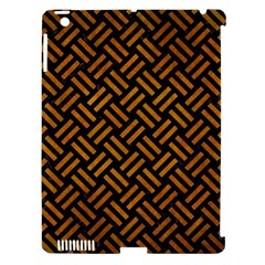 Woven2 Black Marble & Yellow Grunge (r) Apple Ipad 3/4 Hardshell Case (compatible With Smart Cover)
