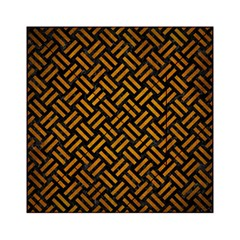 Woven2 Black Marble & Yellow Grunge (r) Acrylic Tangram Puzzle (6  X 6 )